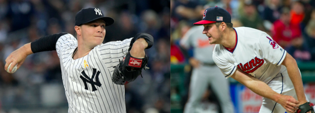 Sonny Gray will take on Trevor Bauer in Game 1 of the ALDS. (Photos via AP)