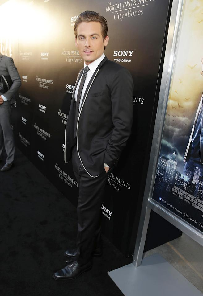 Kevin Zegers seen at Screen Gems 'The Mortal Instruments: City of Bones' Los Angeles Premiere, on Monday, August, 12, 2013 in Los Angeles. (Photo by Eric Charbonneau/Invision for Screen Gems/AP Images)
