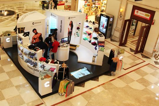 FREECULTR pop-out store at DLF Promenade in New Delhi
