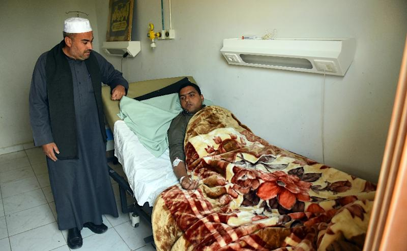 Mohamed Abdel Fattah, the imam of Rawda mosque which was attacked by militants in North Sinai, recovers in an Egypt hospital after the massacre that killed 305 people (AFP Photo/MOHAMED EL-SHAHED)