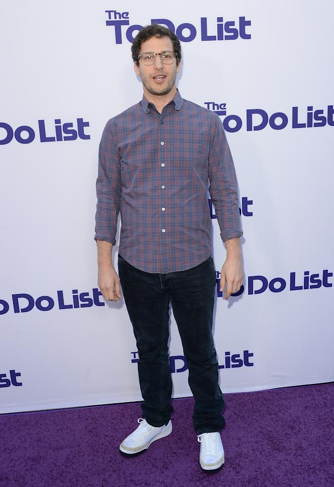 WESTWOOD, CA - JULY 23: Actor Andy Samberg attends the premiere of CBS Films' 'The To Do List' on July 23, 2013 in Westwood, California. (Photo by Jason Merritt/Getty Images)