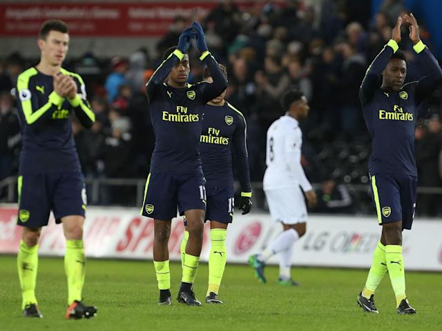 Iwobi has urged Arsenal's fans to show some more 'respect' (AFP/Getty)