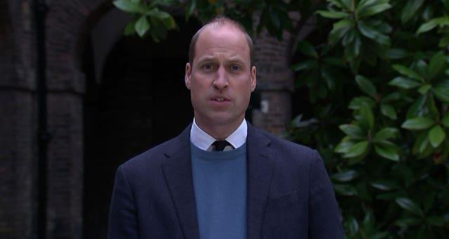 The Duke of Cambridge makes a statement following the publication of Lord Dyson's investigation