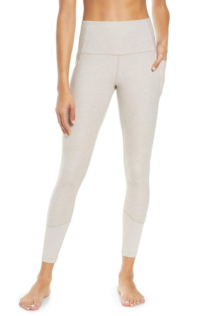 <p>Stay cozy in these <span>Zella Zelsoft Pocket Ankle Leggings</span> ($65).</p>