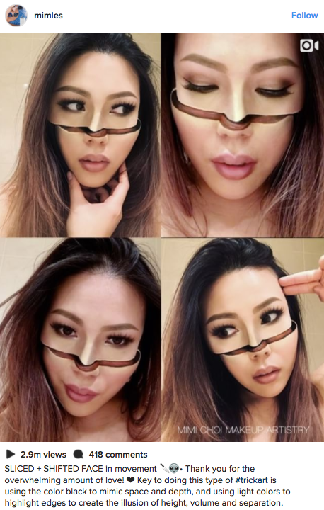 Makeup Artist Mimi Choi Creates Mind-Blowing Optical Illusions on Herself