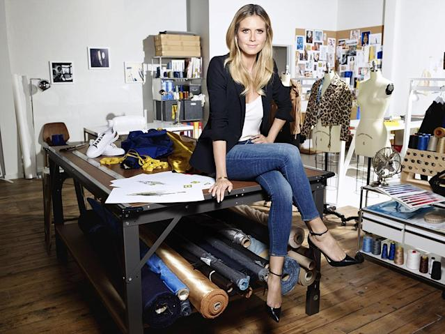 Behind the scenes of Heidi Klum designing her Esmara collection with Lidl. (Photo: Courtesy of Esmara by Heidi Klum)