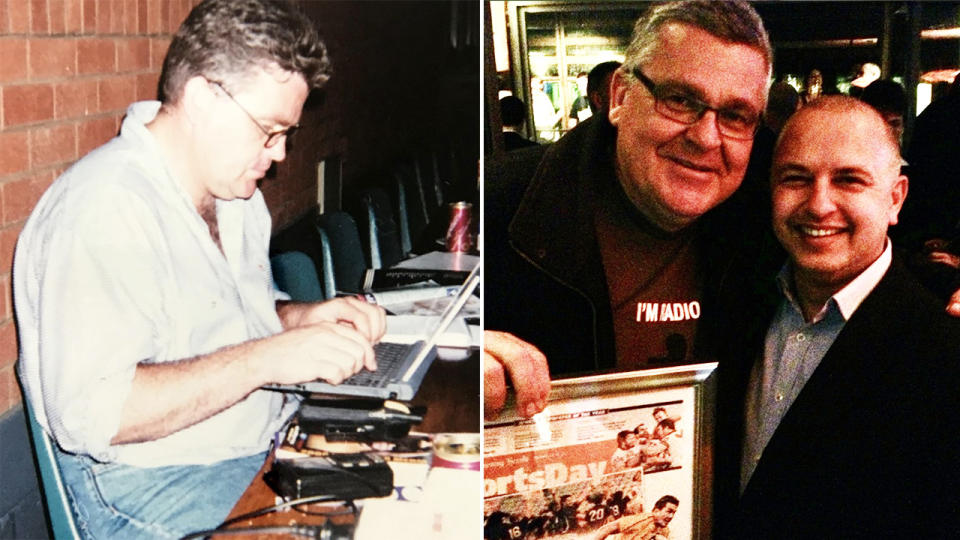 Greg Growden has died at the age of 60 after a battle with cancer. Images: Twitter