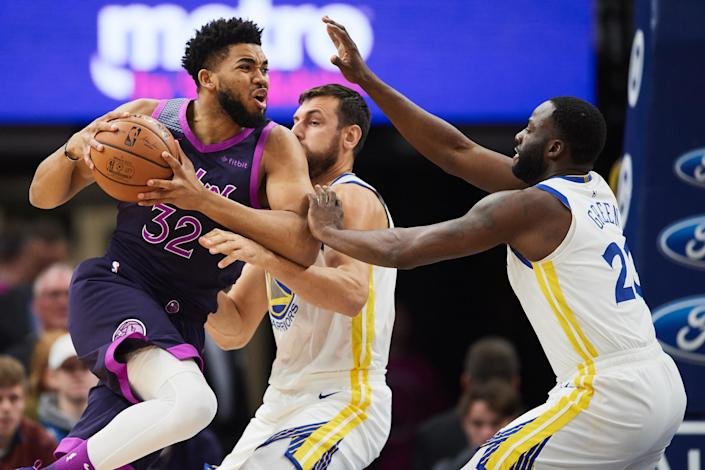Karl-Anthony Towns is in the conversation for the No. 1 overall fantasy pick in any format. (Photo by Hannah Foslien/Getty Images)