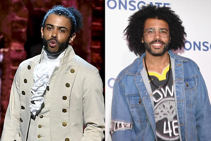 """<p>Following his role as Marquis de Lafayette and Thomas Jefferson, Diggs played the narrator in the TV series <em>The Get Down</em> (2016-2017), voiced Paul in Pixar's <em>Soul</em> (2020), portrayed Frederick Douglass in the mini-series <em>The Good Lord Bird</em> (2020) and Andre Layton in <em>Snowpiercer</em> (2020-2021). You can catch his latest work as co-creator, along with Rafael Casal, of the new STARZ series <a href=""""https://www.instagram.com/blindspottingstarz/?hl=en"""" rel=""""nofollow noopener"""" target=""""_blank"""" data-ylk=""""slk:Blindspotting"""" class=""""link rapid-noclick-resp""""><em>Blindspotting</em></a>, which premiered this summer. Then hold tight until 2023 to watch the live-action remake of <em>The Little Mermaid</em>, in which Diggs will play Sebastian.</p>"""