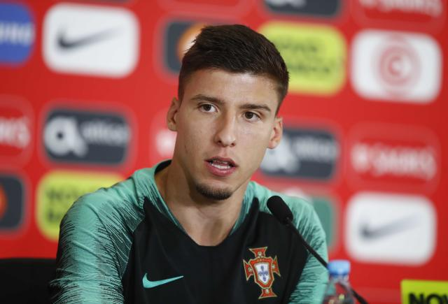 Soccer Football - World Cup - Portugal News Conference - Kratovo, Moscow Region, Russia - June 23, 2018. Ruben Dias attends a news conference. REUTERS/Axel Schmidt