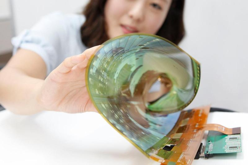 researchers develop textile oled lg rollable display flexible