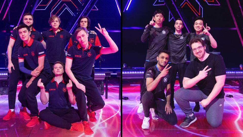 Gambit Esports (left) and Team Envy (right). (Photo: VALORANT Esports/Riot Games)