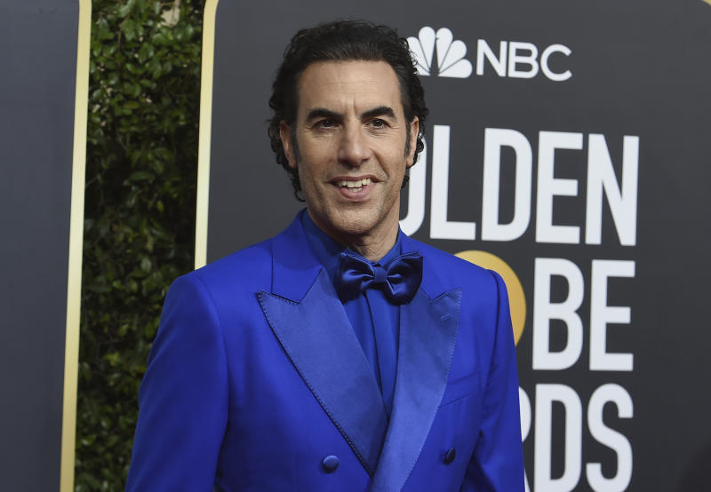 Sacha Baron Cohen criticises Mark Zuckerberg for 'spreading Nazi propaganda — Golden Globes