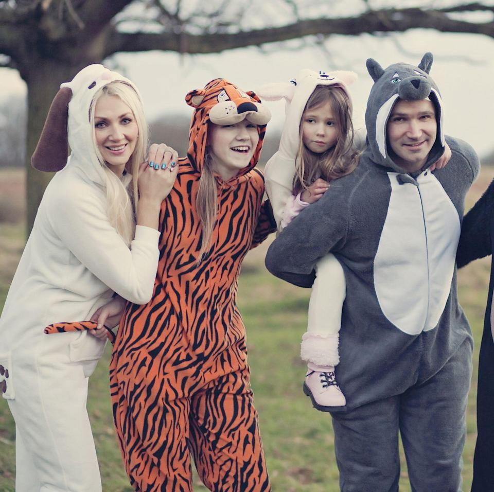 <p>Chances are, your family <em>actually</em> feels like a zoo sometimes. Why not poke fun at it and have everyone dress as their favorite animal? Onesies make these costumes perfect for last-minute dress-up. </p>