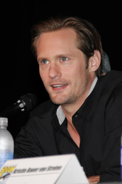 Actor Alexander Skarsgard speaks at the True Blood panel on the third day of Comic-Con convention held at the San Diego Convention Center on Saturday, July 14, 2012, in San Diego. (Photo by Denis Poroy/Invision/AP)
