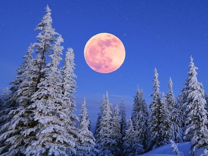 February's full moon is known as the Snow Moon (Getty Images/iStockphoto)