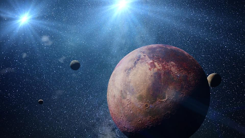 distant planet in a double star system