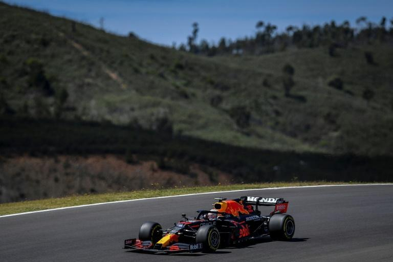 Verstappen had to settle for third on the grid after having a lap scrubbed out