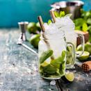 "<p>This traditional Cuban cocktail is one of the most well-known cocktails around. Combining white rum, soda water, fresh lime juice and sugar, it's everything you could really want in a refreshing <a href=""https://www.delish.com/uk/cocktails-drinks/"" rel=""nofollow noopener"" target=""_blank"" data-ylk=""slk:cocktail"" class=""link rapid-noclick-resp"">cocktail</a> with a boozy hit.</p><p>Get the <a href=""https://www.delish.com/uk/cocktails-drinks/a30924200/mojito/"" rel=""nofollow noopener"" target=""_blank"" data-ylk=""slk:Mojito"" class=""link rapid-noclick-resp"">Mojito</a> recipe. </p>"