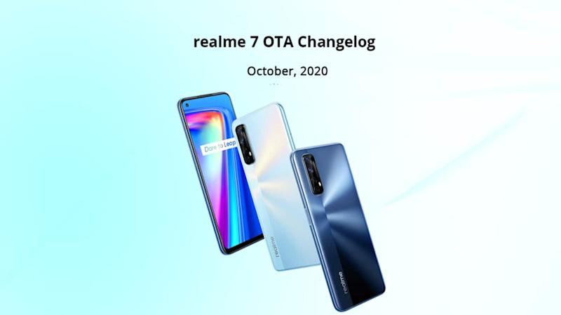 Realme 7 receives October 2020 update with camera improvements