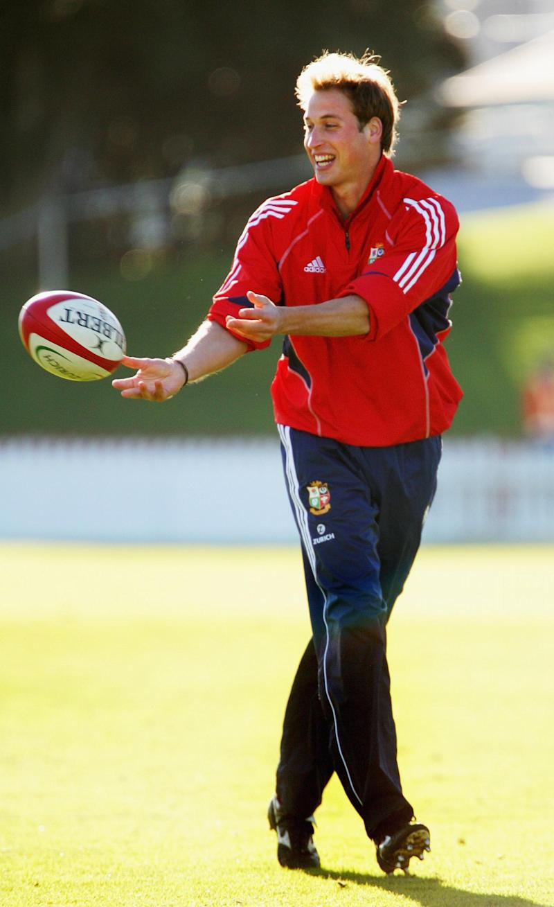 Prince William playing rugby in 2005 (Getty Images)