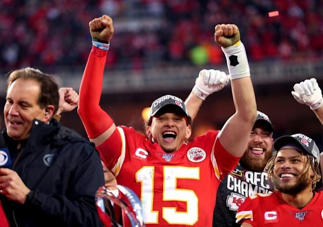 Patrick Mahomes could become only the third quarterback of African-American descent to win the Super Bowl on Sunday (AFP Photo/TOM PENNINGTON)