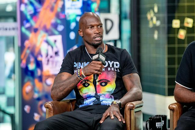 "Former Bengals receiver <a class=""link rapid-noclick-resp"" href=""/nhl/players/4726/"" data-ylk=""slk:Chad Johnson"">Chad Johnson</a> said he saw the FBI arrest his neighbor and former Trump adviser Roger Stone on Friday. (Photo by Roy Rochlin/Getty Images)"