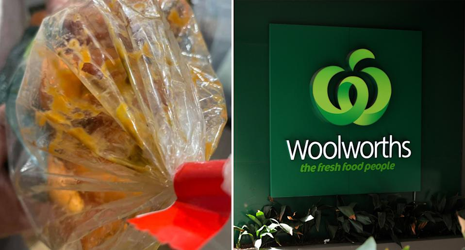 a Woolworths customer complains about rotting food and missing items in delivery