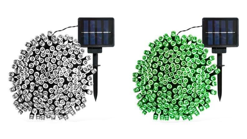 These solar-powered string lights are ideal for fences and railings.