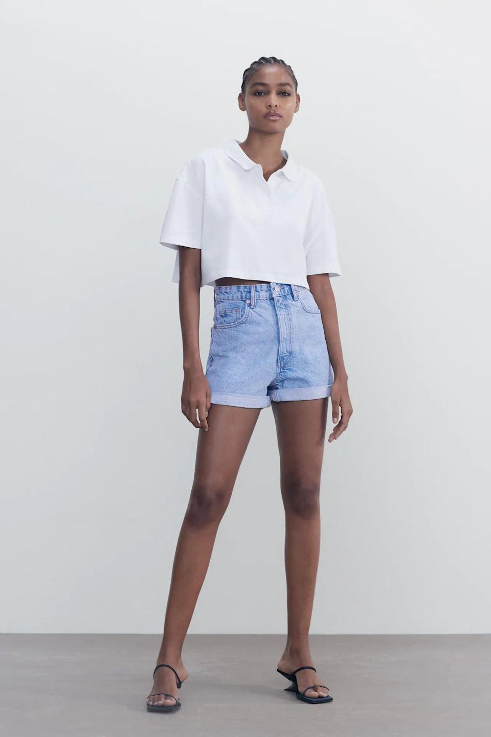 <p>You'll always reach for these <span>Zara Mom Fit Shorts</span> ($36).</p>