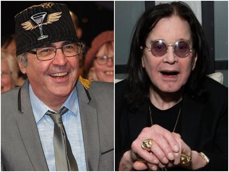 The former radio presenter Danny Baker, and rock star Ozzy Osbourne: Anthony Harvey/Emma McIntyre/Getty Images