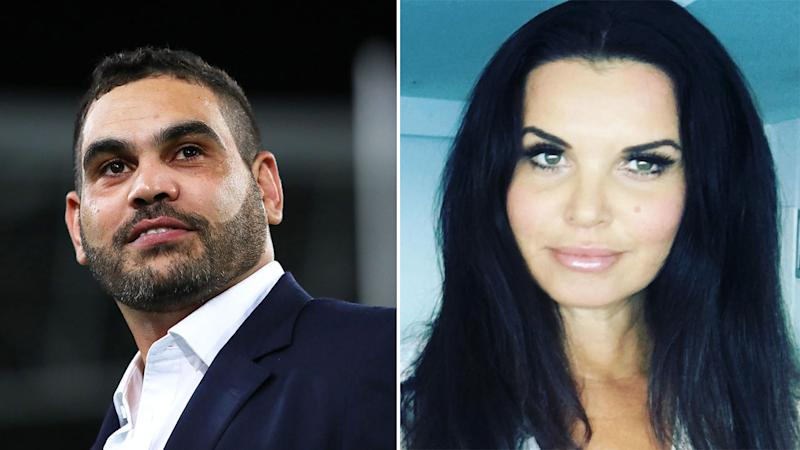 Pictured here, Greg Inglis and former topless model Suzi Taylor.