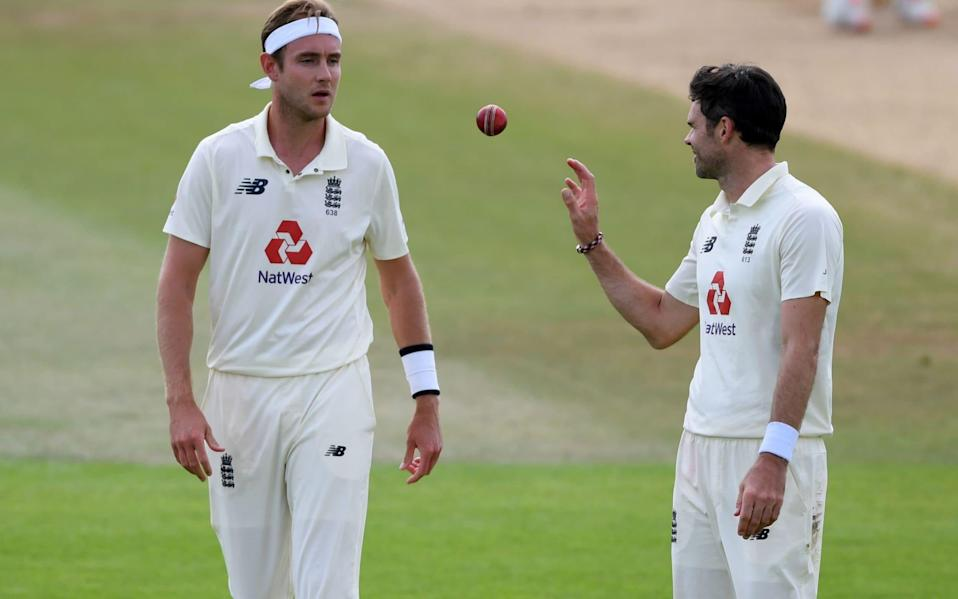 Stuart Broad and Jimmy Anderson are desperate to take on Australia Down Under this winter - AFP