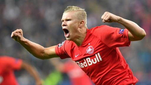 Erling Braut Haaland scored in his first five Champions League matches for RB Salzburg this season