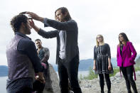 """<p><b>This Season's Theme: </b> """"Less coming of age vibe, more harsh reality of responsibility to save the magical world,"""" executive producer Sera Gamble says. <br><br><b>Where We Left Off: </b> """"With everybody completely f**ked in Fillory,"""" Gamble jokes. """"Quentin was the only conscious person left in the wellspring, which the Beast has almost drained. The Beast just escaped with the only weapon that can kill him thanks to Julia being ready to make a deal with him."""" The premiere, Gamble says, picks up in """"the same messy pit of problems we left ourselves in."""" <br><br><b>Coming Up: </b> The gang, still reeling from in-fighting and broken hearts, has to regroup to figure out a new strategy to snuff out the Beast while Alice (Olivia Taylor Dudley) still has god juice in her system. Having unexpectedly survived the showdown, Eliot (Hale Appelman), who agreed to a marriage that stranded him in the magical land and made him high king, realizes there's more to the job than crowns and courtesans. Gamble explains, """"At first blush, it sounds perfect to be royalty. But the reality is more complicated and adult. When he's actually handed the keys, he realizes that a magical kingdom has its own set of high stakes problems."""" <br><br><b>Beast of Burden: </b> Julia (Stella Maeve) gets way more than she bargained for when she buddies up with the big bad. """"He sings… constantly and it annoys her,"""" recalls Stella Maeve. """"I am not a fan of musical theater for the most part, but Charles [Mesure], and Jason [Ralph] in Season 1, makes it look so fun that I secretly wish I had a musical number. Maybe next year."""" <i>— CB</i> <br><br>(Credit: Carole Segal/Syfy) </p>"""