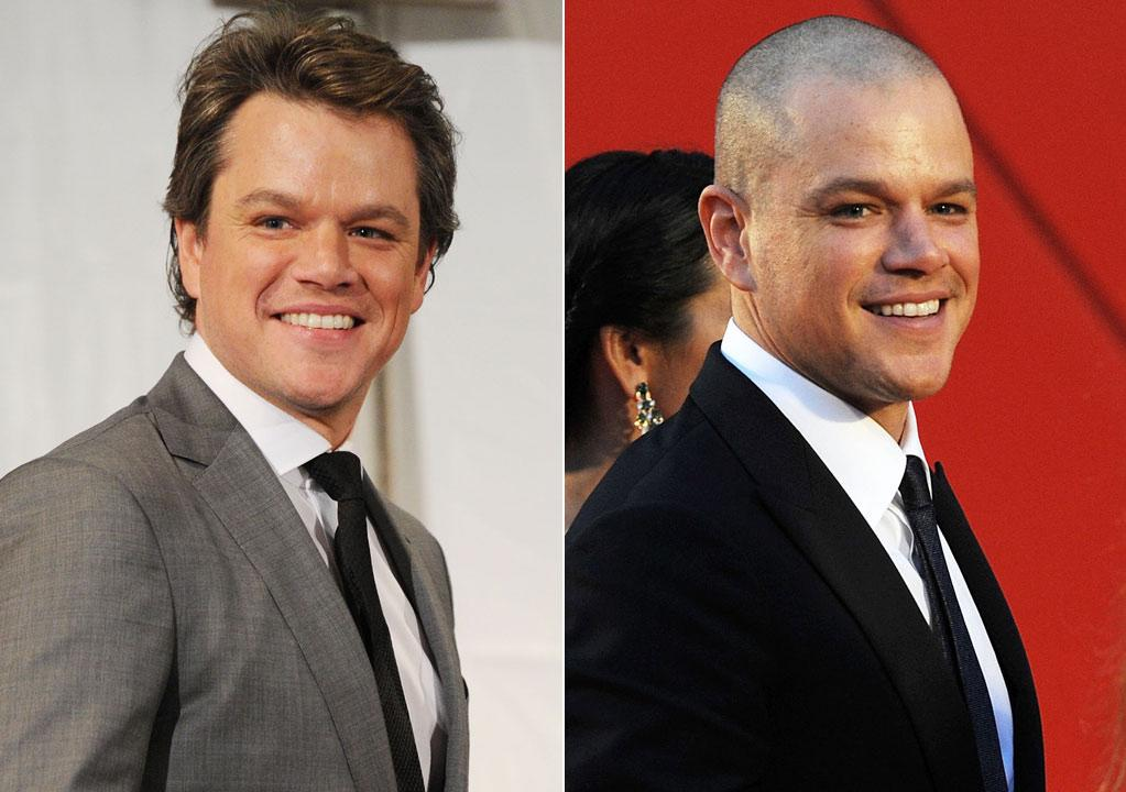 """""""Contagion"""" star Matt Damon, 40, recently bared all (on his head, that is!) for his new role in the 2013 sci-fi drama with Jodie Foster, """"Elysium.""""        """"He shaved his head for a movie role, but he is definitely better with hair,"""" Eber said. """"I'm sure his wife would agree [and would be] wanting to run her fingers through it!""""     Jason Merritt/Getty Images/Stefania D'Alessandro/Getty Images"""