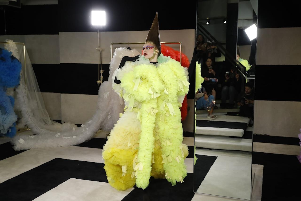 <p>At the Marc Jacobs store on Madison Avenue. </p>