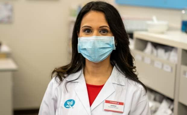 Pharmacist Sabina Kapoor is participating in a COVID-19 rapid-testing pilot program at her Shopper's Drug Mart store in Mississauga.