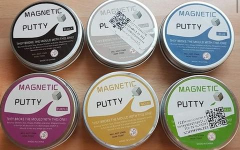 The magnetic putty was removed from Amazon in January, following Northamptonshire Trading Standards Service banning the sale from a market stall  - Credit: Triangle News