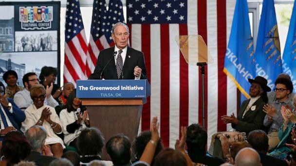 PHOTO: Democratic presidential candidate Michael Bloomberg is applauded as he speaks at the Greenwood Cultural Center in Tulsa, Okla., Sunday, Jan. 19, 2020. (Sue Ogrocki/AP)