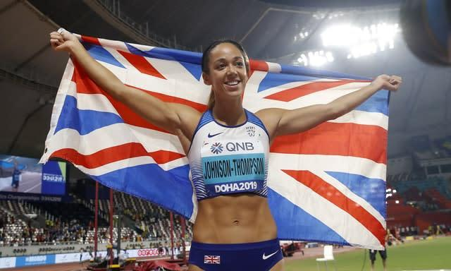 Great Britain's Katarina Johnson-Thompson inflicted Nafi Thiam's first defeat since 2016 (Martin Rickett/PA)