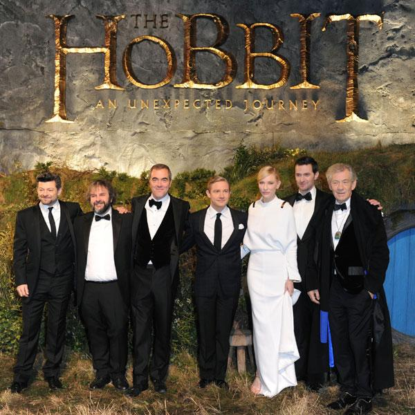 "<b>The cast of The Hobbit at the London premiere, Dec 2012 </b><br><br>Actress <a target=""_blank"" href=""http://uk.lifestyle.yahoo.com/cate-blanchett-wears-all-white-look-for-the-premiere-of-the-hobbit--an-unexpected-journey-in-london-110656933.html"">Cate Blanchett</a> joined her fellow castmates for the UK premiere of The Hobbit: An Unexpected Journey.<br><br>© Rex"