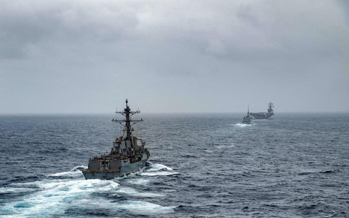 US naval forces on patrol in the Arabian Sea, where the attack took place - afp/afp