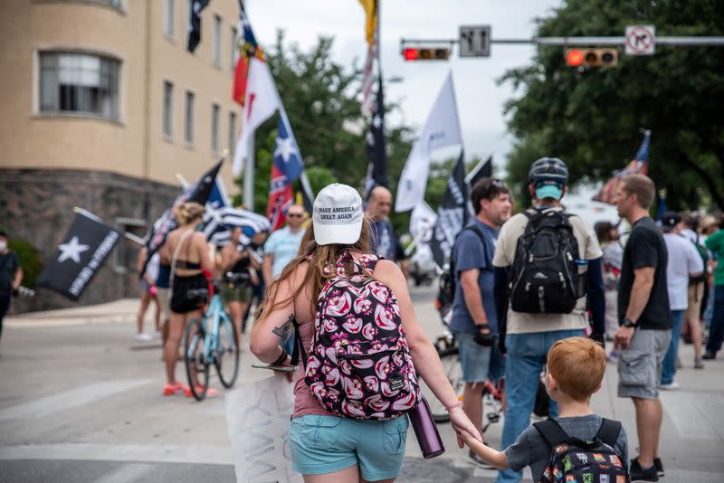 People protest mask mandates in Austin, Texas