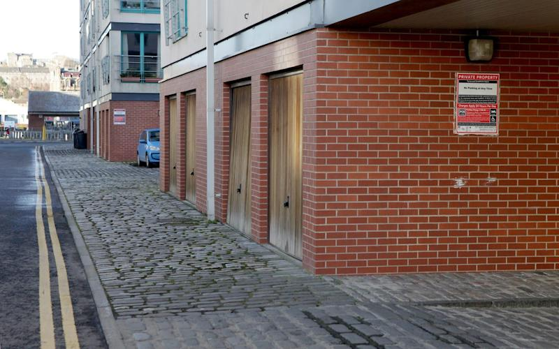 The garages in Dundee where Miss Mackie parked her car  - Credit: Katielee Arrowsmith / SWNS.com