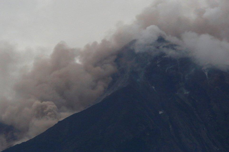<p>Ash fell on the Guatemala City area as well as the departments of Sacatepequez, Chimaltenango and Escuintla, which are in south-central Guatemala around the volcano. Streets and houses were covered in the colonial town of Antigua, a popular tourist destination. (Getty) </p>