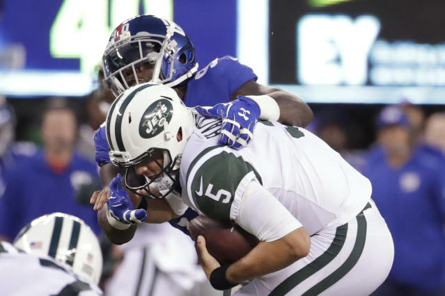 Christian Hackenberg struggled again in Saturday's preseason game. (AP)