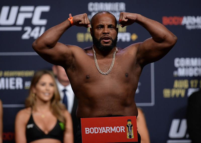Daniel Cormier appeared to rule out a third fight with Jon Jones when talking about completing the Stipe Miocic trilogy. (Reuters)