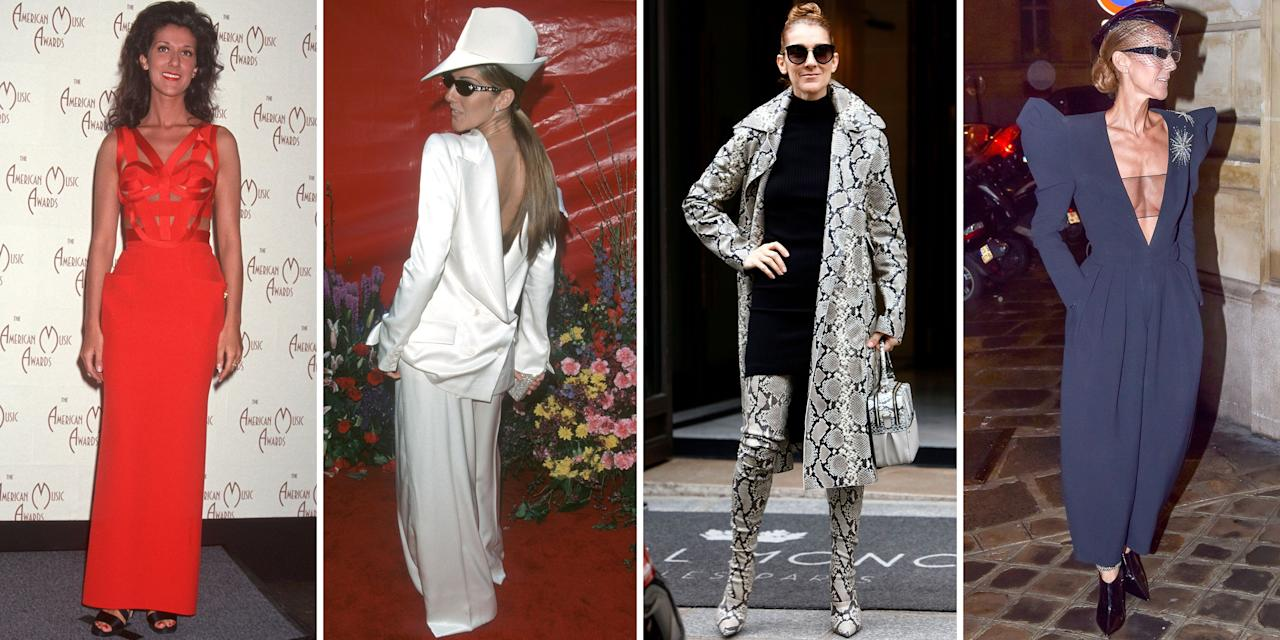 <p>Celine Dion has always been a fashion chameleon. From her breakout in the '90s to her recent appearances at Paris Couture Week, the singer has never shied away from bold, risk-taking looks-many of which have been way ahead of their time. She can give you dramatic over-the-top couture gowns, but she's also mastered the art of effortlessly cool streetwear just as well. In the spirit of her ever-changing and evolving style, take a look back at Dion's greatest fashion moments of all time. </p>