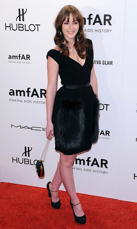 We want to reach out and stroke your skirt, Leighton Meester. And that's not a euphemisim.